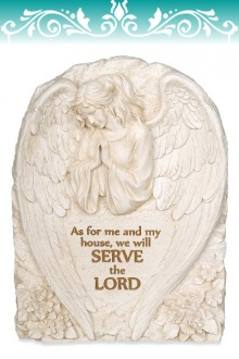 "Placa de perete ""We will serve the Lord"""